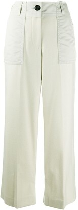 Sacai Wide-Leg Tailored Trousers