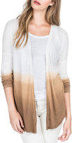 Lilla P Dip-Dye Long-Sleeve Cardigan, Brown Sugar