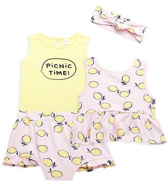 Pl Baby Baby Girl's 3-Piece Headband, Bodysuit, Skirt Set