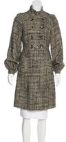 Badgley Mischka Metallic Tweed Coat