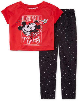 Disney Collection Girls 2-pc. Minnie Mouse Pajama Set Toddler