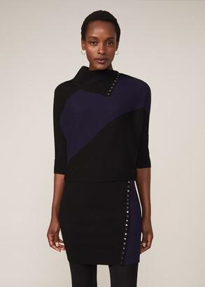 Phase Eight Becca Stud Colourblock Dress