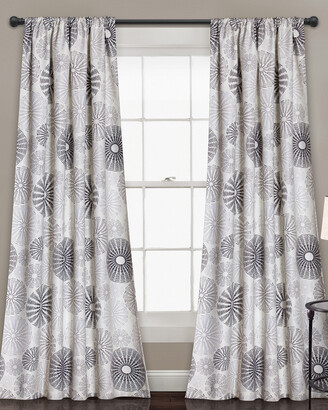 Triangle Home Fashion Multi Circles Room Darkening Window Curtain