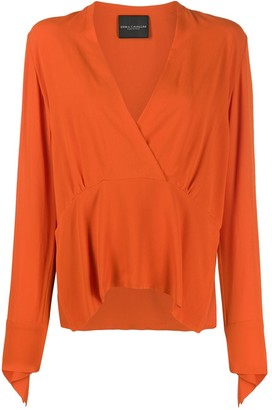 Erika Cavallini Satin Drop Dart Blouse