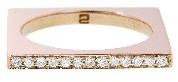 Janis Savitt Square Diamond Ring - Rose Gold