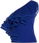 Emporio Armani One Shoulder Stretch Knit Top