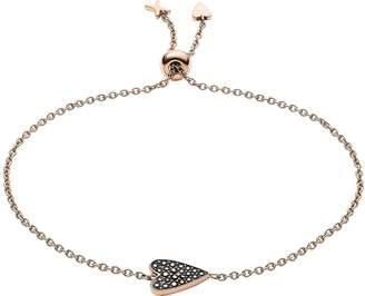 Fossil Heart Glitz Rose Gold Bracelet