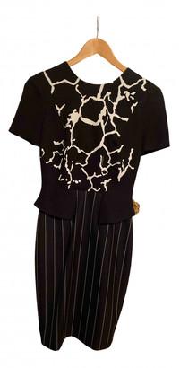 Versace Black Wool Dresses