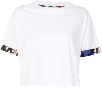 Forte Forte abstract-cuff boxy T-shirt