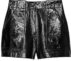 Tibi Women's Patent Leather Cargo Shorts