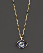 Meira T Diamond, Sapphire and 14K Yellow Gold Evil Eye Pendant Necklace