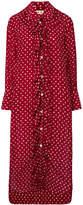 Marni bow trim shirt dress