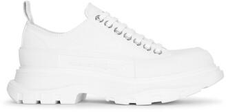 Alexander McQueen Tread slick white canvas lace-up