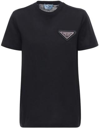 Prada Logo Cotton Jersey T-shirt