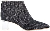 Jerome Rousseau 'Schofield' tweed ankle boots - women - Calf Leather/Goat Skin/Lamb Skin/Wool - 37