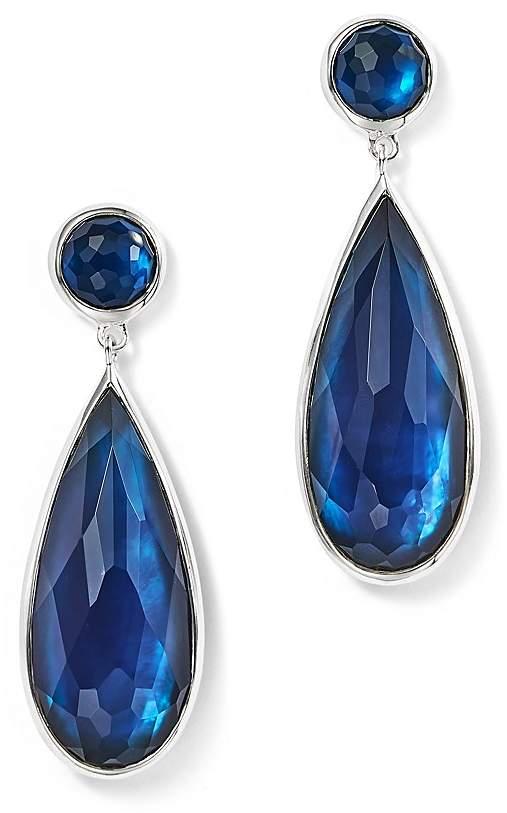 Ippolita Sterling Silver Rock Candy® Wonderland Elongated Snowman Earrings in Midnight