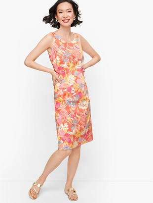 Talbots Textured Fruit & Flowers Shift Dress
