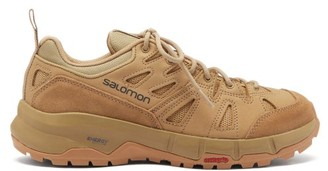 Salomon Odyssey Nubuck, Suede And Mesh Hiking Trainers - Beige