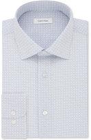 Calvin Klein Men's Steel Classic/Regular Fit Non-Iron Performance Blue Print Dress Shirt