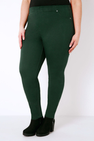 Yours Clothing Pine Green Jeggings With Elasticated Waist