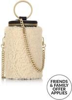 Whistles Eden Shearling Cylindrical Bag