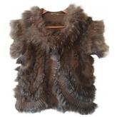 Miu Miu Brown Fox Knitwear