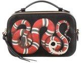 Gucci Snake Print Top Handle Bag