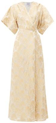 Thierry Colson Marieke Floral Silk-brocade Dress - Gold