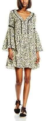 Morgan Women's Rflor.N Mini Floral Tunic Long Sleeve Dress,(Manufacturer Size: 42)