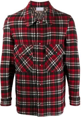 Pierre Louis Mascia Pancake plaid wool shirt