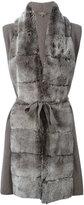 N.Peal cashmere furry belted cardi-coat - women - Rabbit Fur/Cashmere - XS