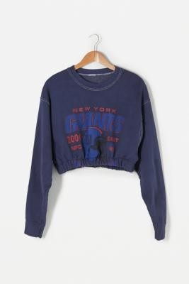 Urban Renewal Vintage Remade From Vintage Indigo Bubble Hem Sweatshirt - Blue M/L at Urban Outfitters