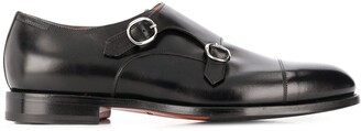 Santoni Round-Toe Low-Heel Monk Shoes