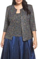 Alex Evenings Plus Size Women's Metallic Print Twinset