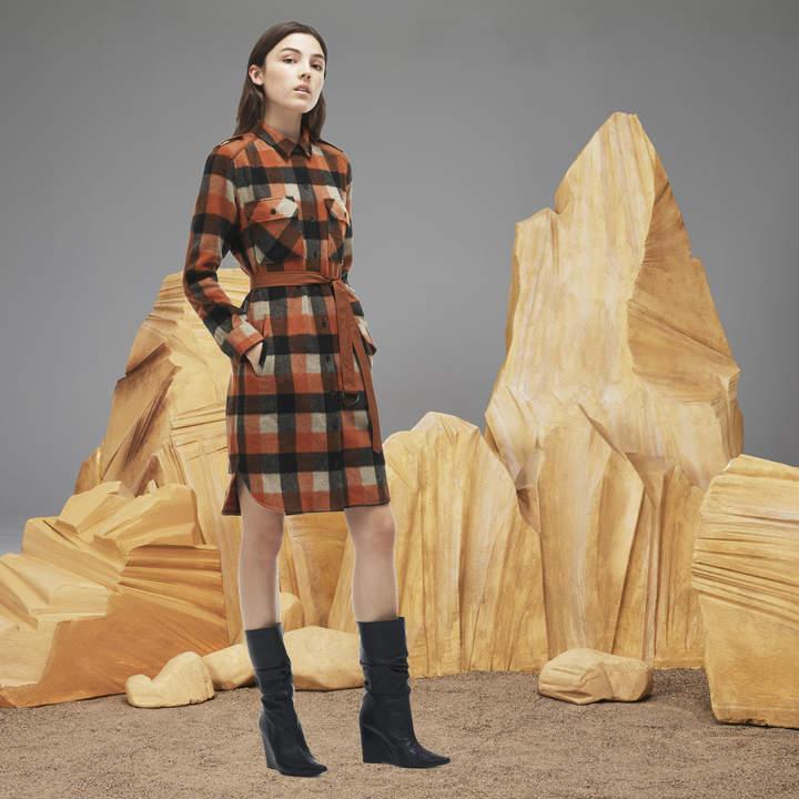 Lacoste (ラコステ) - NY Collection チェックシャツドレス (長袖)
