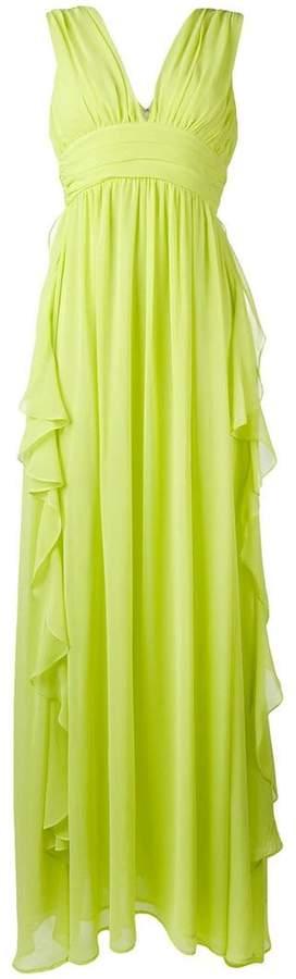 MSGM chiffon ruffle-detail gown