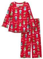 Sara's Prints Printed Ruffle Hem Pajamas (Baby, Toddler, Little Girls, & Big Girls)