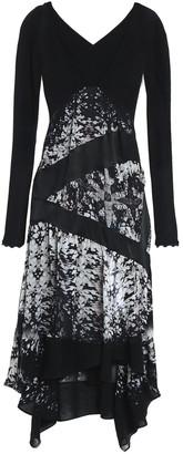 Roberto Cavalli Cutout Paneled Silk-voile And Crepe Dress