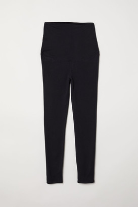 H&M MAMA Jersey Leggings - Black