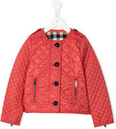 Burberry quilted collarless jacket