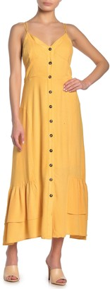 Lumiere Long Front Button Dress