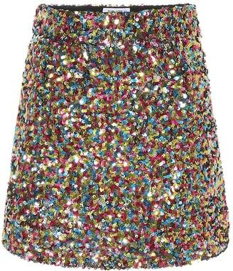 ATTICO Sequinned miniskirt