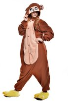 Newcosplay fleece adult Unisex Halloween Cosplay pajaas (, Brownonkey )