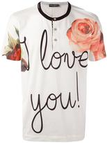 Dolce & Gabbana I love you! print T-shirt