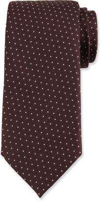 Ermenegildo Zegna Men's Silk Deco Dot Tie