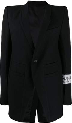 Rick Owens patch detail blazer