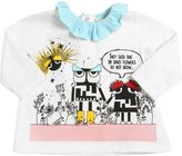 Fendi Monsters Printed Cotton Jersey T-Shirt