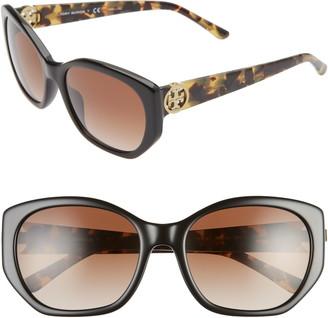 Tory Burch 55mm Polarized Cat Eye Sunglasses