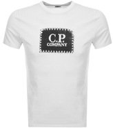 C.P. Company Logo T Shirt Cream