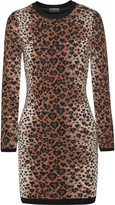 RED Valentino Leopard-print wool-blend mini dress